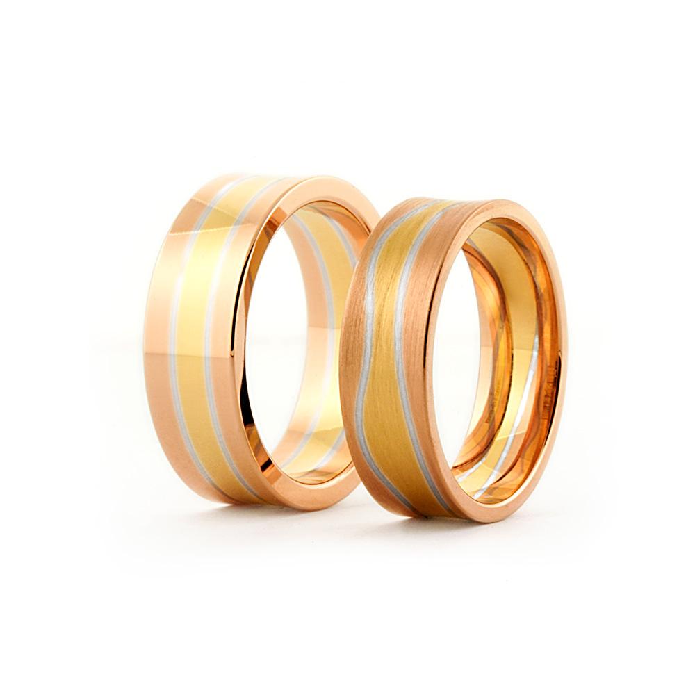 Sintrade ringar i olika guldfärger / Sintered rings in different colors
