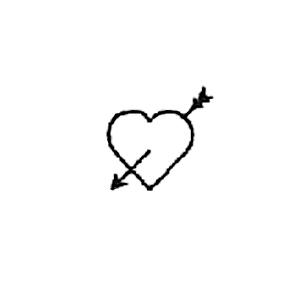 Guldbolaget - Invändig gravyrsymbol: Hjärta med pil